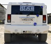 16-10, лимузин хаммер, Hummer, лимузин на свадьбу, украшения для автомобиля, украшения для лимузина, украшения на свадьбу, Воронеж, Лимузин-36