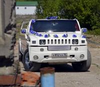 16-2, лимузин хаммер, Hummer, лимузин на свадьбу, украшения для автомобиля, украшения для лимузина, украшения на свадьбу, Воронеж, Лимузин-36