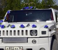 16-5, лимузин хаммер, Hummer, лимузин на свадьбу, украшения для автомобиля, украшения для лимузина, украшения на свадьбу, Воронеж, Лимузин-36